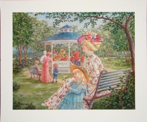 Charming Lee Dubin Victorian BAND IN THE ROUND S/N Art