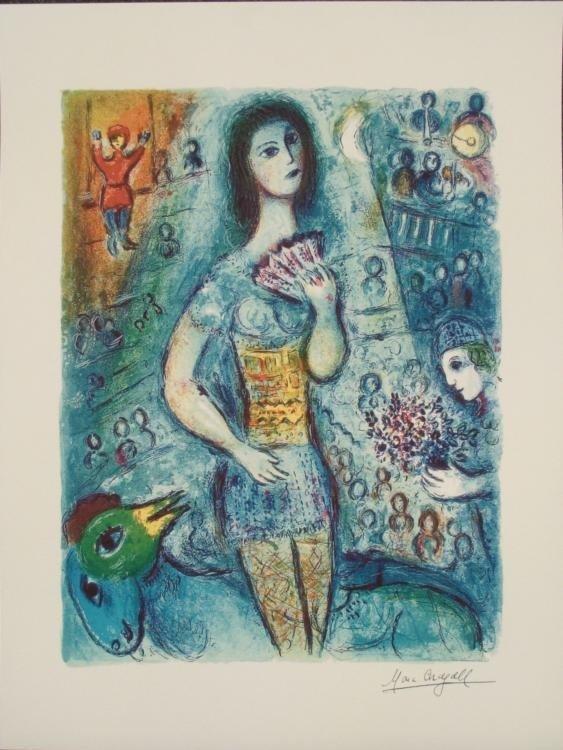 Marc Chagall : Circus Dancer Art Print