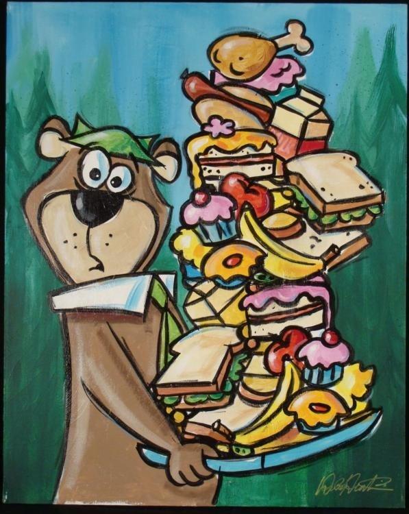 Duerrstein Yogi Bear Original Cartoon Art Painting