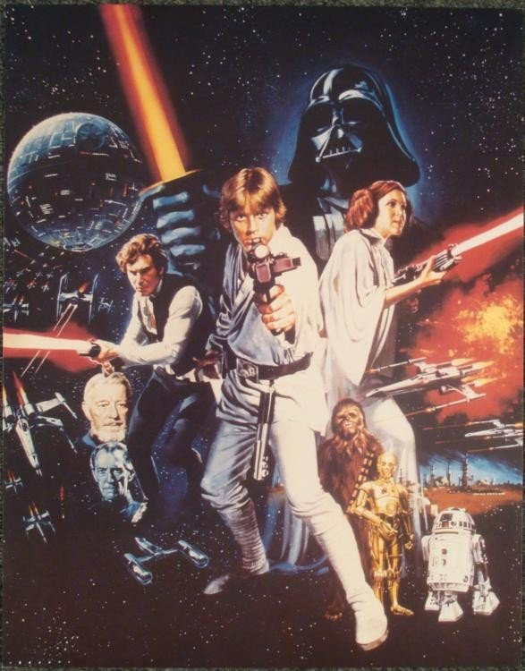 Tom Chantrell Stars Wars Movie Poster Collage