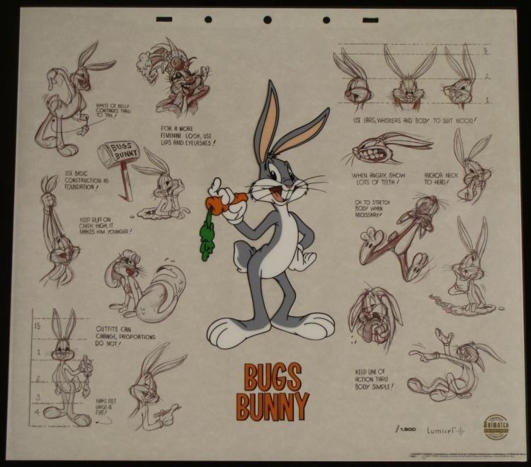 Bugs Bunny Cartoon Animation Cel Art & Background