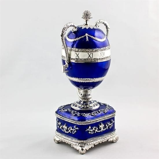 Blue Serpent Clock Faberge Egg