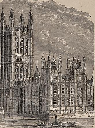 ORIGINAL Antique PRINT scene -PARLIAMENT HOUSE