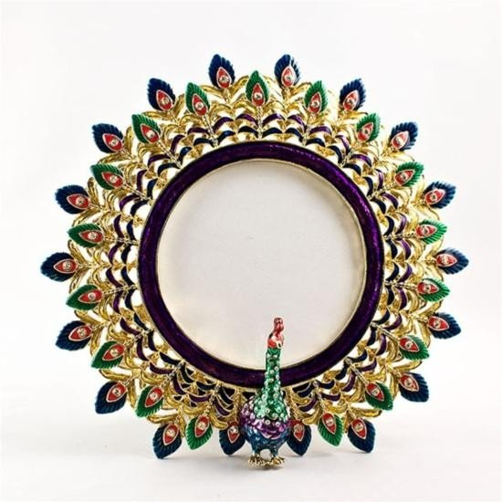 Golden Peacock Faberge Frame
