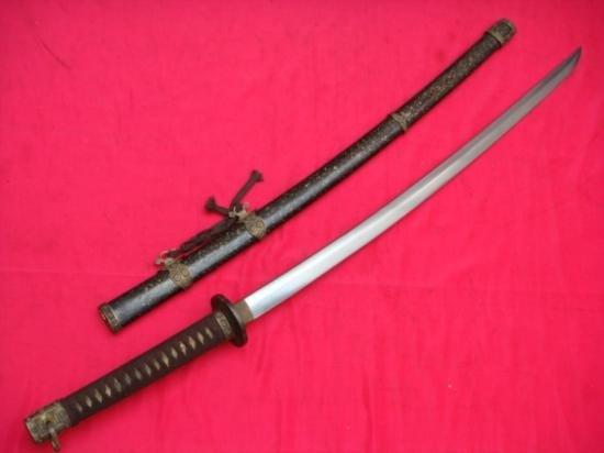 AMAZING JAPANESE KATANA SWORD STEEL SHEATH SIGNED BLADE