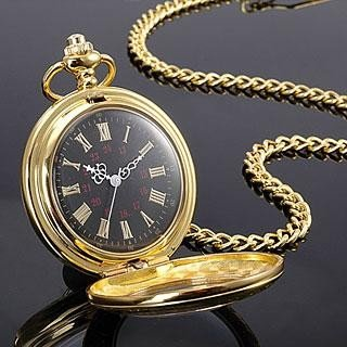 MWF1416 Classic Golden Case Mens Quartz Pocket Watch