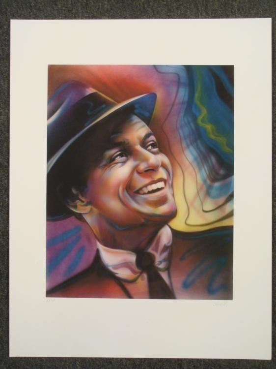 Frank Sinatra Shen Signed Print AP Jazz Legend