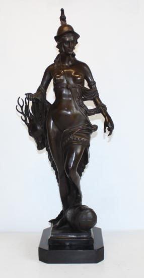 Graceful Bronze Diana - Goddess of the Hunt
