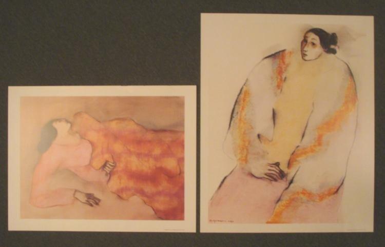 2 R.C. Gorman Prints Navajo Art -Winona, Rosa