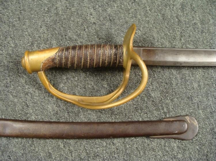 CIVIL WAR CAVALRY SWORD M1860 BY AMES DATED 1862 ORIG