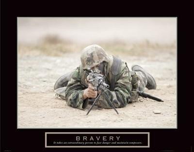 Bravery Sniper Military Man U.S. Soldier Poster Print