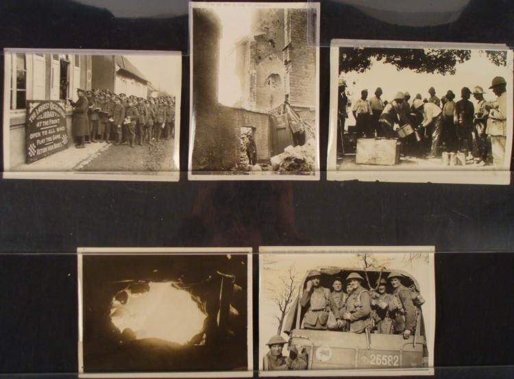 5 6x8 BRIT WWI PRESS PHOTOS-GERMAN OFFENSIVE-ORIG