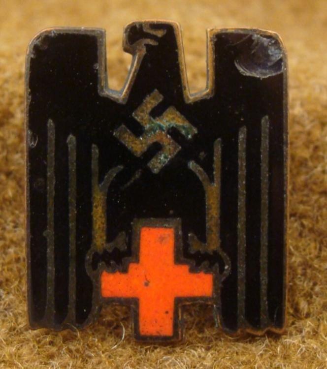 NAZI ORIG RED CROSS MEDAL-DEUTCHES ROTES KREUZ-SWASTIKA