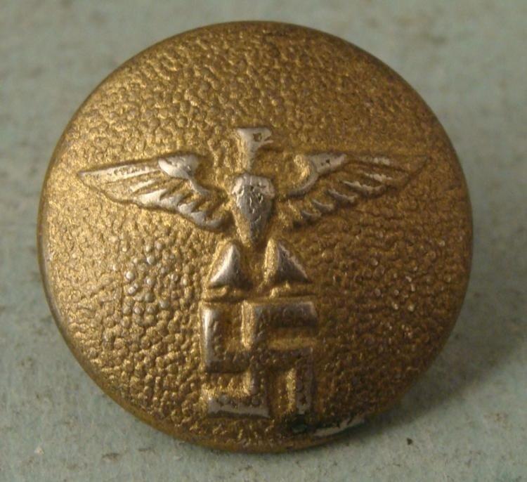 ORIGINAL GOLD TONE NAZI POLITICIANS TUNIC BUTTON