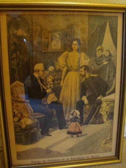 French newspaper in a frame dating 1894