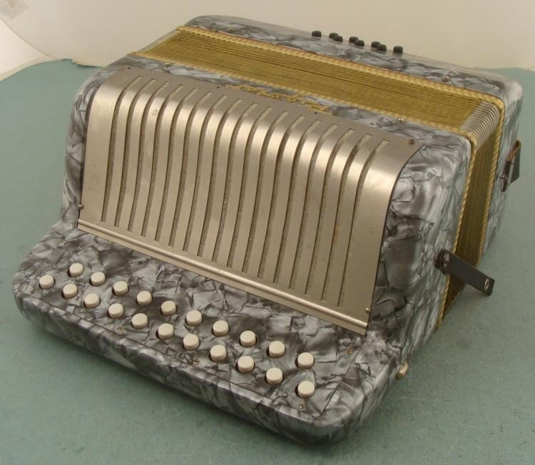 Rigoletto Small Vintage Accordion US Zone Germany 1945