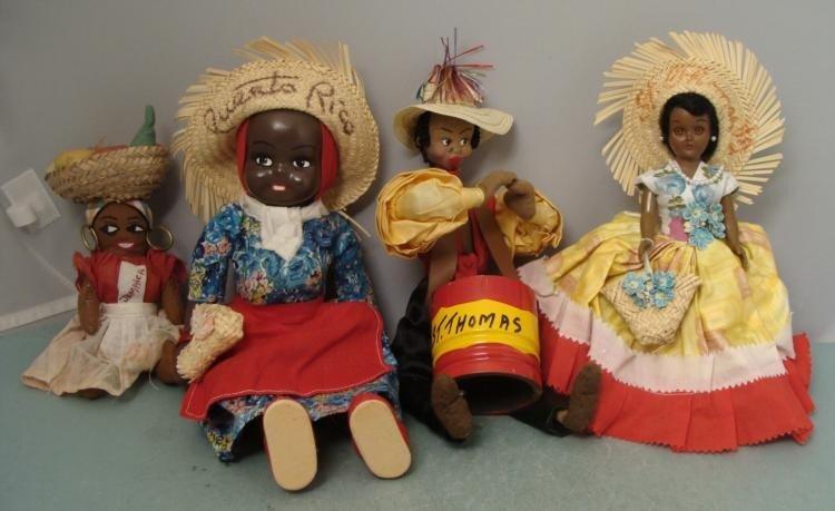 4 Vintage Island Dolls Jamaica St. Thomas Puerto Rico