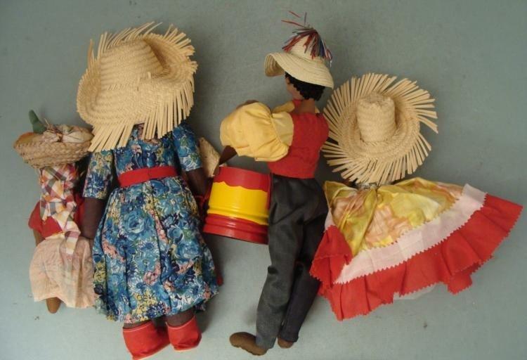 4 Vintage Island Dolls Jamaica St. Thomas Puerto Rico - 2