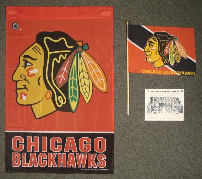 Chicago Blackhawks Stanley Cup Photo, Flag, Banner Lot