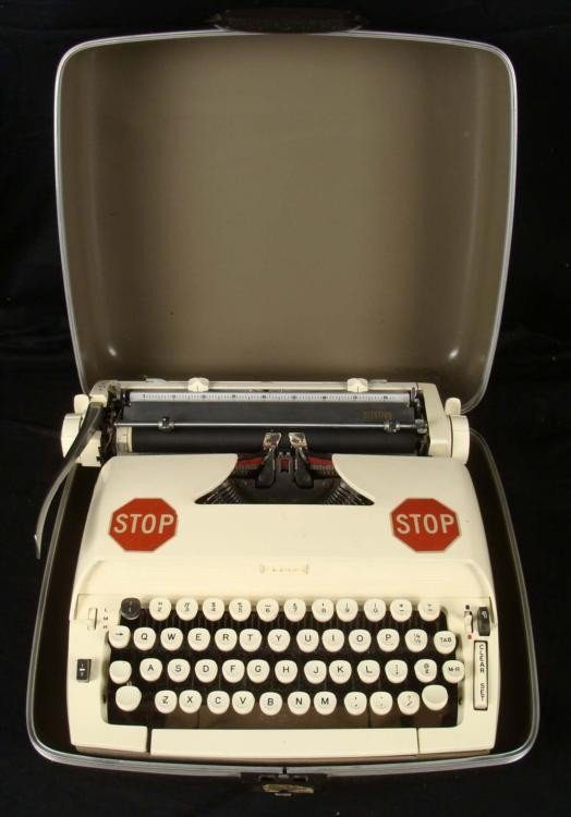 Vintage Sears Citation 1906s Portable Typewriter w/Case