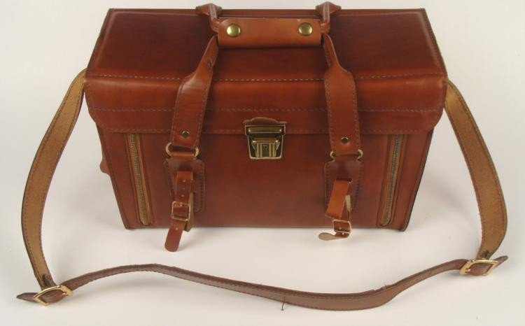 HOMA Brown Leather Camera Case / Travel Bag
