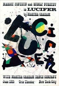 Joan Miro Art Print Lucifer -Galarie Maeght 1975
