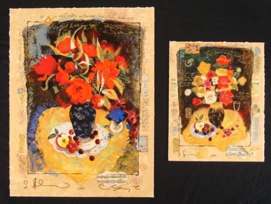 Alexander & Wissotzky Signed Set 2 Diff Art Prints