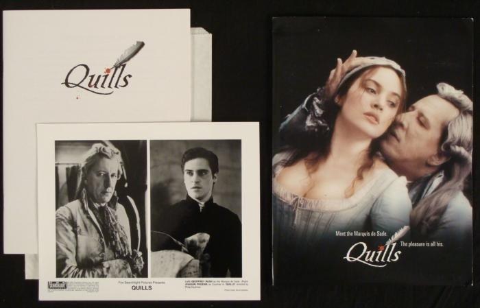 Quills Movie Press Kit Marquis de Sade w/ Photos