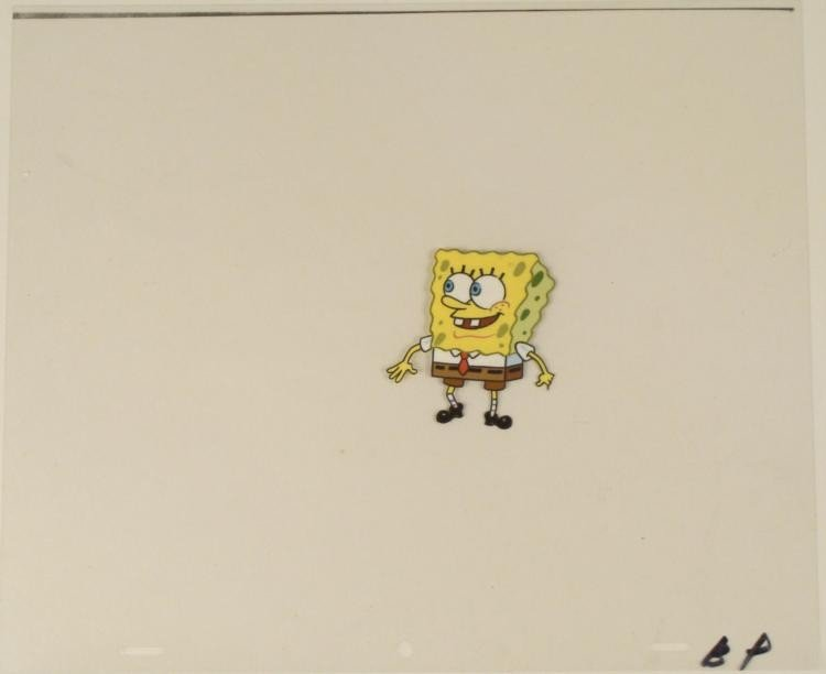 SpongeBob Original Animation Cel Standing Happy