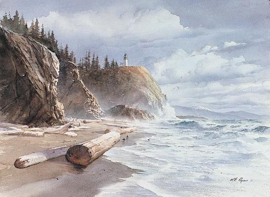 William Ryan Summer Light Art Print Lighthouse