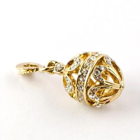 Crystal Egg Faberge Pendant