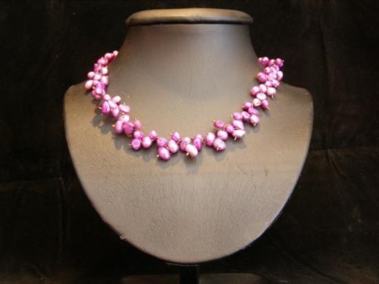 DAZZLING Amethyst Hued Freshwater Pearl Necklace MWF11