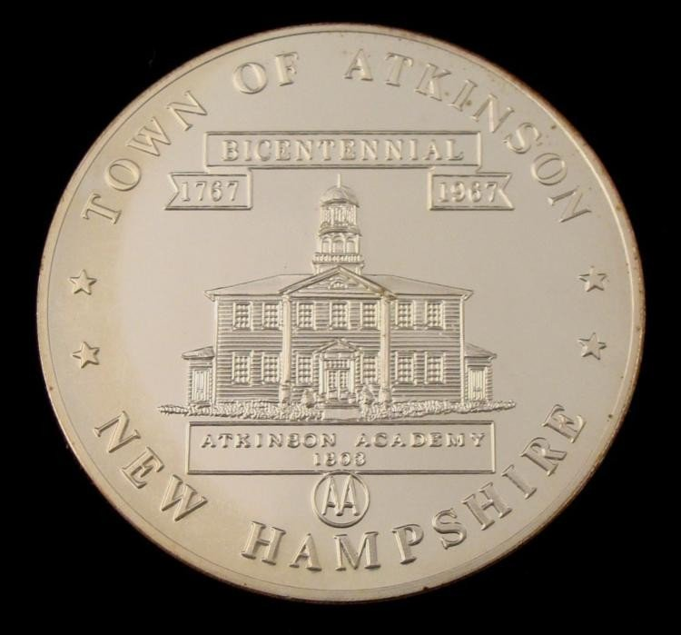 Atkinson New Hampshire 1 oz 1967 Comm Silver Coin