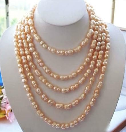 Flawless 100in 16MM PINK BAROQUE DOUBLE FRESHWATER PEAR