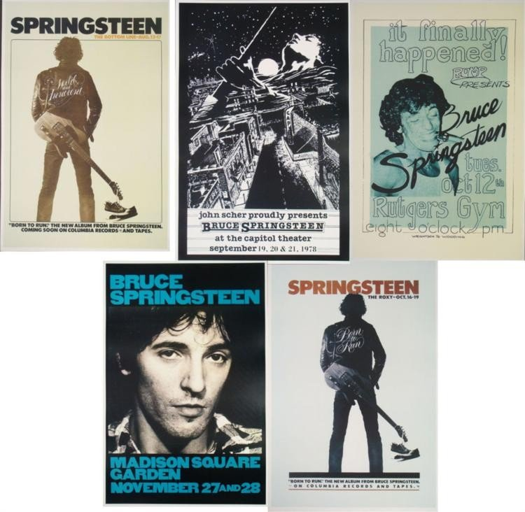 """5 Bruce Springsteen 12 x 18 """"The Boss"""" Concert Posters"""