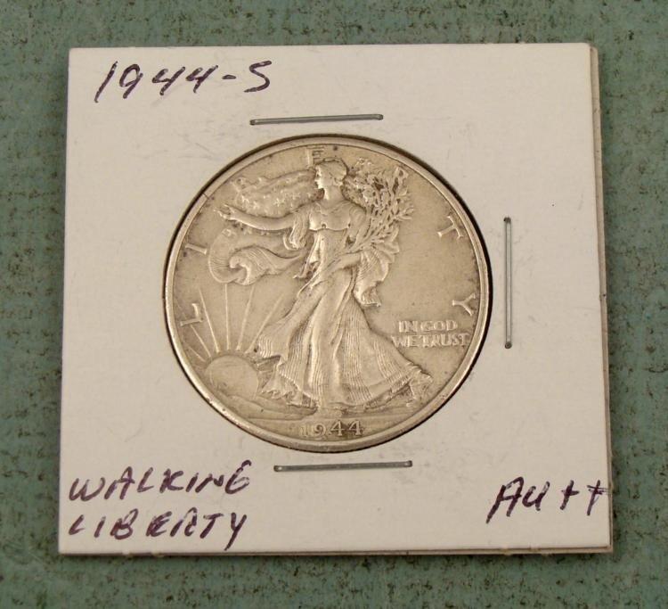 1944-S Very Hi Grade Walking Liberty Silver Half Dollar
