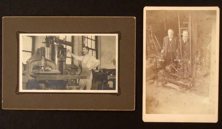 2 Antique Photo Prints Machinery/Printing Press