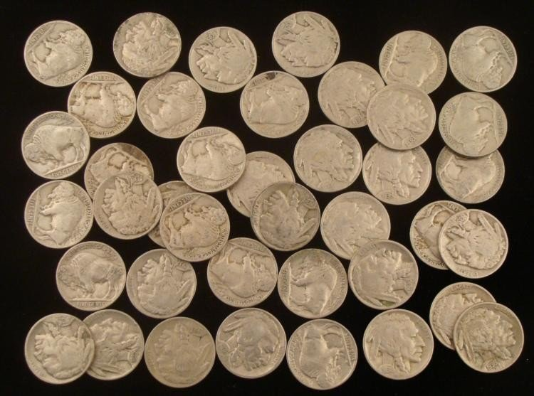 1 Mixed Roll Full Date Buffalo Nickels -Sharp Coins