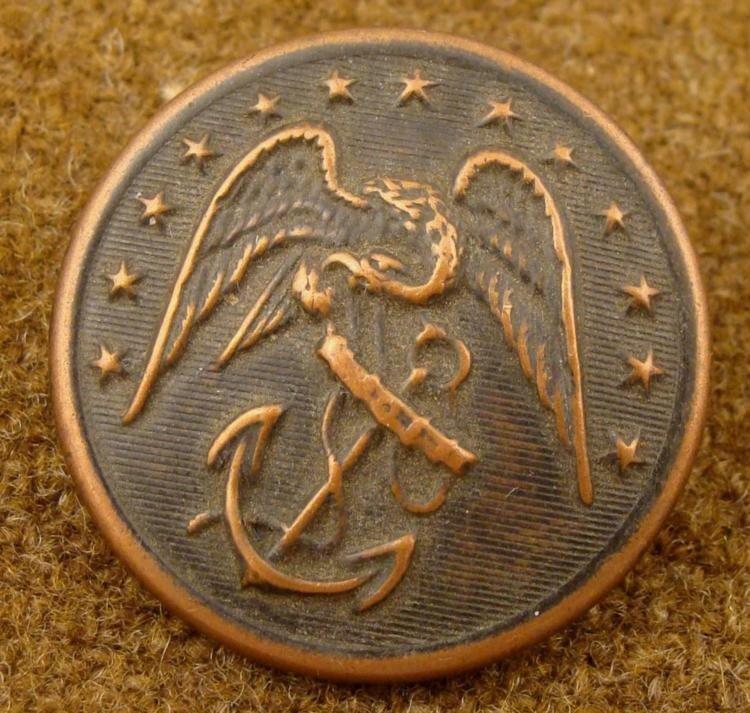 Civil War Orig Large Bronze Naval Button Scovill