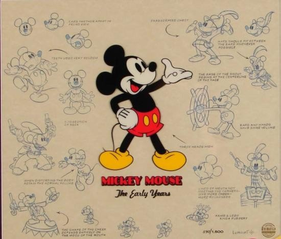 Mickey Mouse Talking Disney Lumicel Animation Cel Art