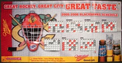 Chicago Blackhawks BIG 6 ft Banner 2005 NHL Schedule