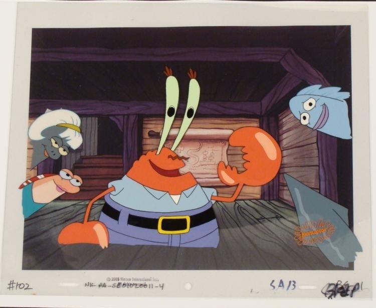 Background Spongebob Animation Original Cel Art