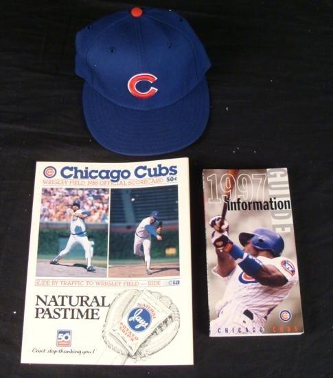Chicago Cubs 1997 Info Guide 1988 Scorecard New Era Hat