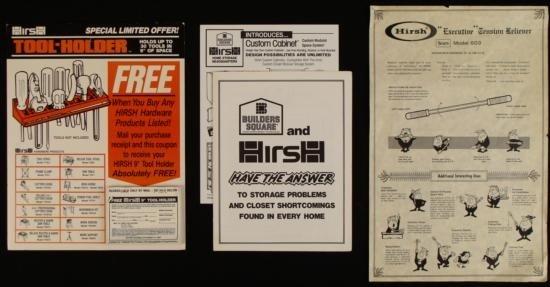 Hirsch Tools Original Hardware Store Display Proofs