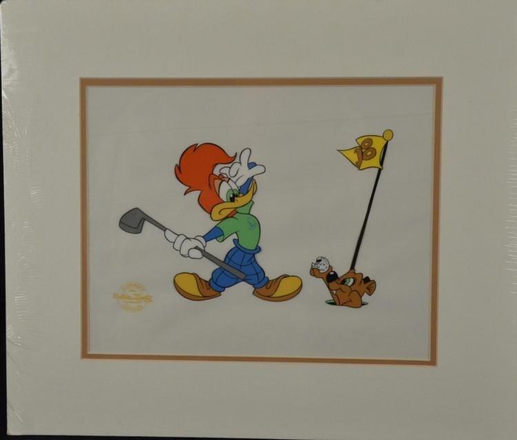 Woody Woodpecker Golf Course Ltd Ed Animation Cel