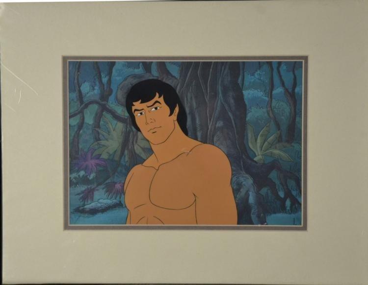 Tarzan Original Animation Production Cel Portrait