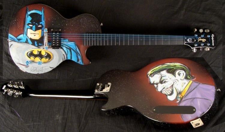 Duerrstein Orig Painted Batman / Joker Superhero Guitar
