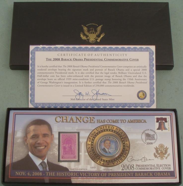 Obama Change Has Come to America Commemorative Coin Set
