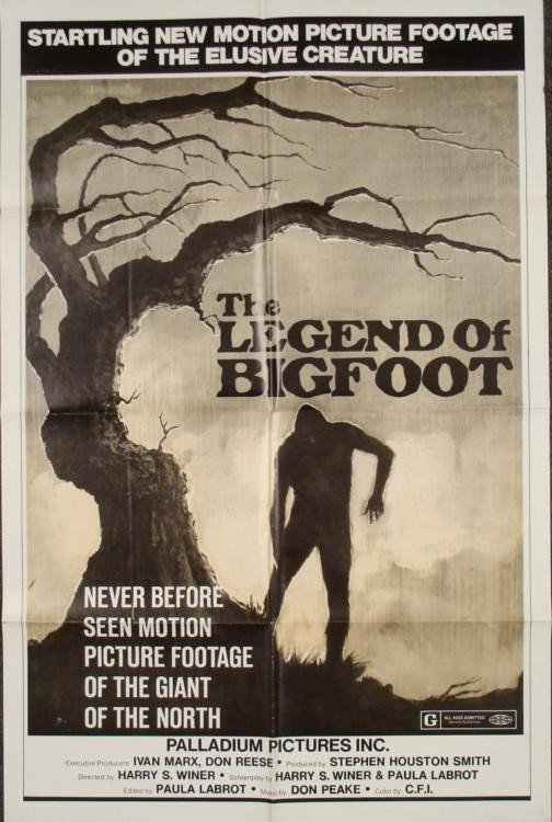 The Legend of Bigfoot Original 1 Sh Movie Poster 1976