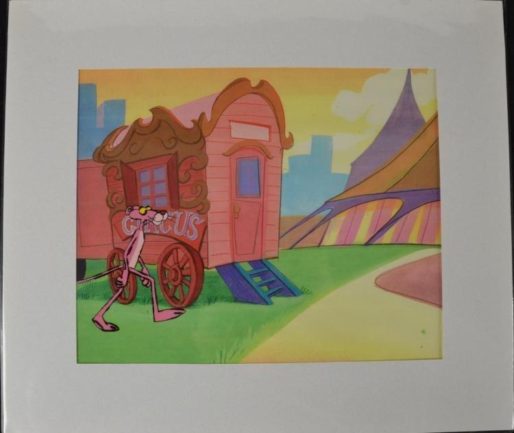 Pink Panther Original Production Cel & Drawing Circus